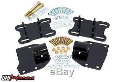 UMI Performance 68-72 GM A-Body LSX Swap Engine Motor Mounts BLACK