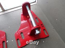 UMI Performance 78-87 GM G Body LSX Swap Engine Mounts Red 24065-R Chevy C3