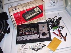 Vintage 1970' s Sears auto Engine tune Tach gauge meter volt kit gm rat rod amc