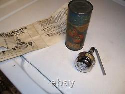 Vintage 50s Chrome tool Tachometer delco auto accessory gm street hot rod parts