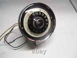 Vintage 60s Airguide chrome Altimeter gauge auto service dial gm street hot rod