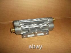 Vintage Original NOS Dual Oil Filter Aluminum Remote MountHot RodBoatRace Car